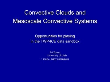 Convective Clouds and Mesoscale Convective Systems