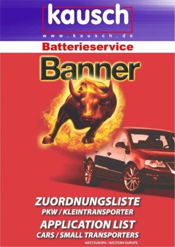 CARS AND SMALLTRANSPORTERS APPLICATION LIST - Kausch