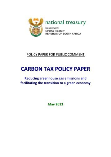 Carbon Tax Policy Paper 2013 - National Treasury