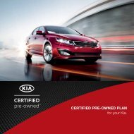 CERTIFIED PRE-OWNED PLAN for your Kia. - VIN Solutions
