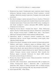 BAZY DANYCH 3 – program wykładu - Zakład Teorii Informatyki
