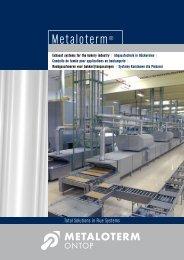 Conduit de fumée pour applications en boulangerie (PDF - Metaloterm