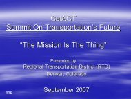"""CalACT Summit On Transportation's Future """"The Mission Is The Thing"""""""