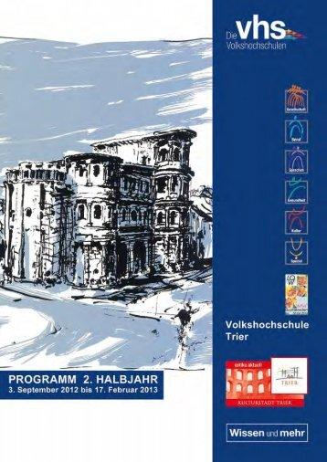 PDF-Programm herunterladen (6MB) - VHS Trier