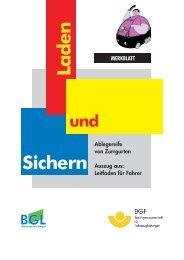 Ablegereife von Zurrgurten - BGL