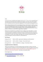 Anschreiben - Qi Gong Oberkassel
