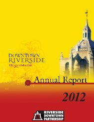 RDP Annual Report 2012 - Riverside Downtown Partnership