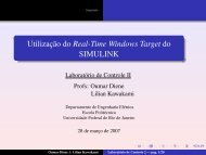 Utilização do Real-Time Windows Target do SIMULINK
