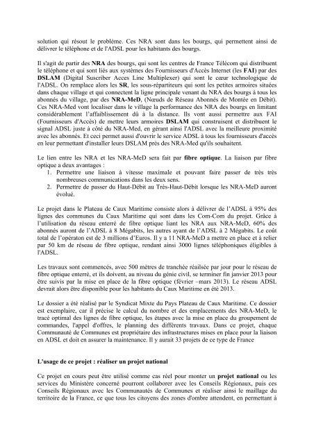 Projet Caux Maritime - Admiroutes