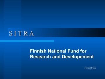 SITRA - Finnish National Fund for Research and Development