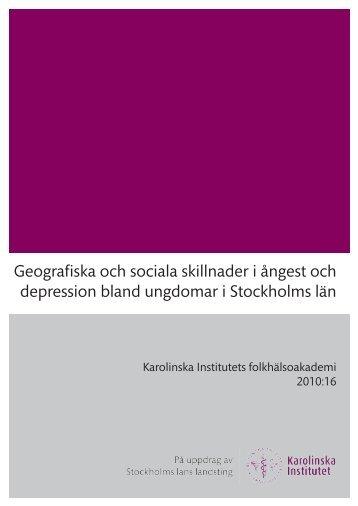 Geografiska och sociala skillnader i ångest och depression