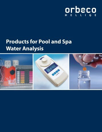 Products for Pool and Spa Water Analysis - Orbeco-Hellige
