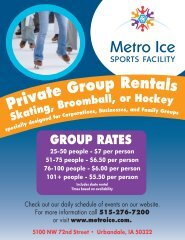 GROUP RATES 25-50 people - $7 per person 51-75 ... - Metro Ice