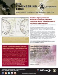 the engineering edge - Edgewood Chemical Biological Center - U.S. ...