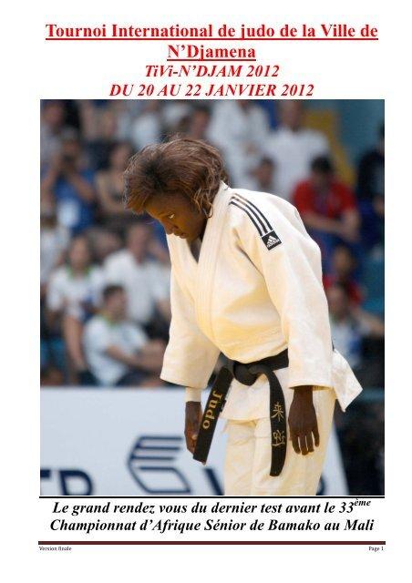 Tournoi International de judo de la Ville de N'Djamena