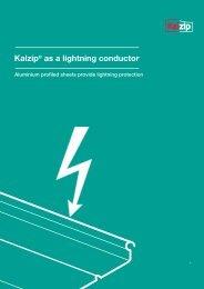 Kalzip® as a lightning conductor