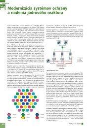 Modernizácia systémov ochrany a riadenia jadrového ... - ATP Journal