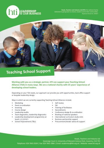 Teaching School Support - HTI