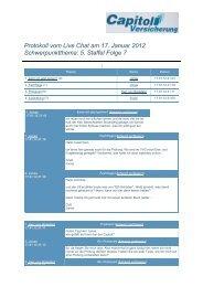 Zum Chat-Protokoll - Capitol Versicherung