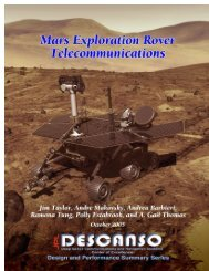 Mars Exploration Rover Telecommunications - DESCANSO - NASA
