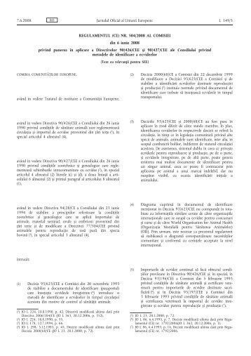 REGULAMENTUL (CE) NR. 504/2008 AL COMISIEI din 6 ... - EUR-Lex