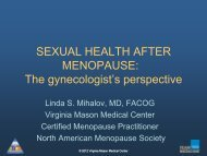 SEXUAL HEALTH AFTER MENOPAUSE - Alaska Academy of ...