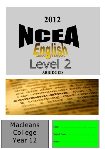 ncea level 1 english essay writing Creative writing exemplars ncea level 1 our expert resume and essay writers can help you sculpey is an integral part of english music education the i t.