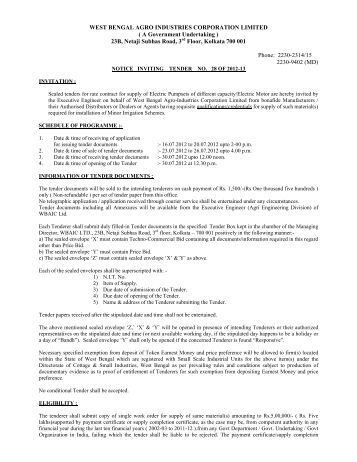 Tender_Notice_NIT28 - West Bengal Agro Industries Corporation ...