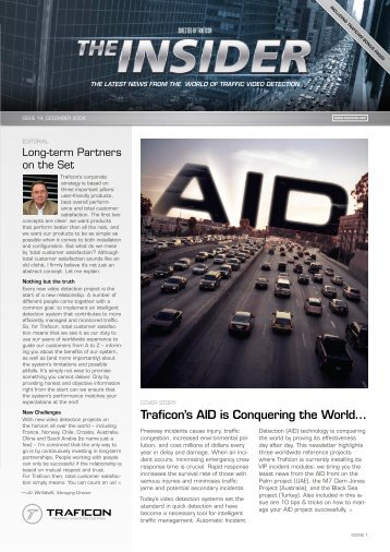 Traficon's AID is Conquering the World…