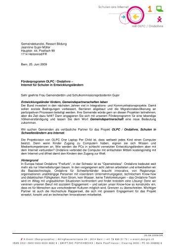 Gemeindekanzlei, Ressort Bildung Jeannine Gujer ... - designo.ch