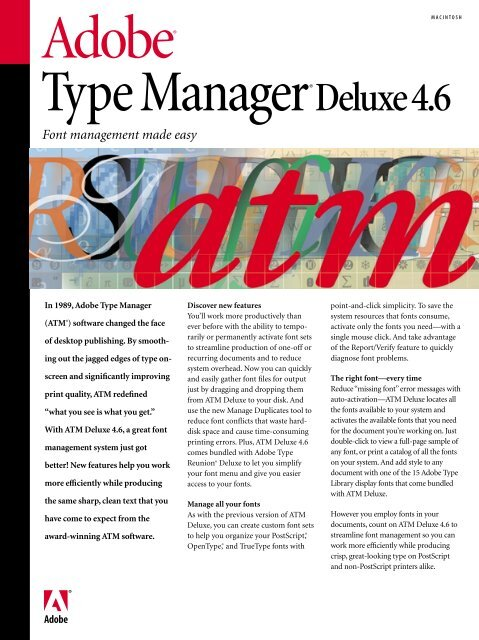 Adobe Type Manager Deluxe 4 6