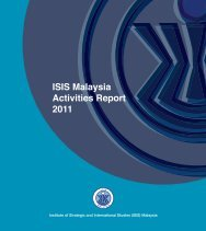 ISIS Activities Report (2011) - ISIS Malaysia
