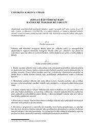 Jednací řád vědecké rady KTF - Univerzita Karlova