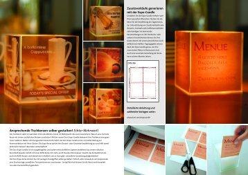 Zusatzverkäufe generieren mit der Expo-Candle - Moosmann GmbH ...
