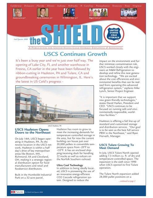 SHIELD NEWSLETTER 9-08 - United States Cold Storage