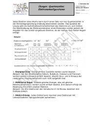 Quantenzahlen; Elektronenkonfigurationen - Chemiezauber.de
