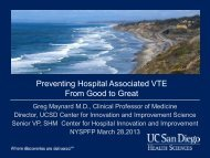 Preventing Hospital Associated VTE From Good to Great by Gregory ...