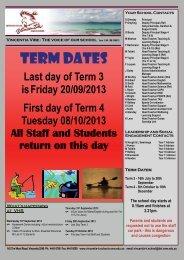 Term 3 Week 10 - Vincentia High School