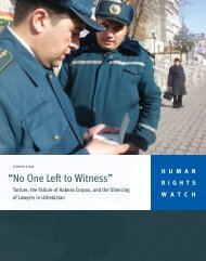 """""""No One Left to Witness"""" - Human Rights Watch"""