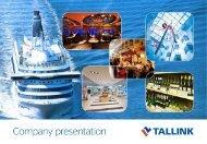 Company presentation - Tallink