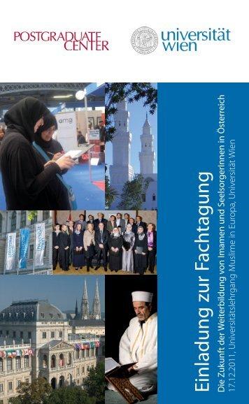 Einladung zur Fachtagung D - Universität Wien
