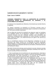 convenio urbanístico para la liquidación de acuerdos suscritos entre ...