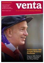 David Gower OBE accepts Honorary Doctorate - University of ...