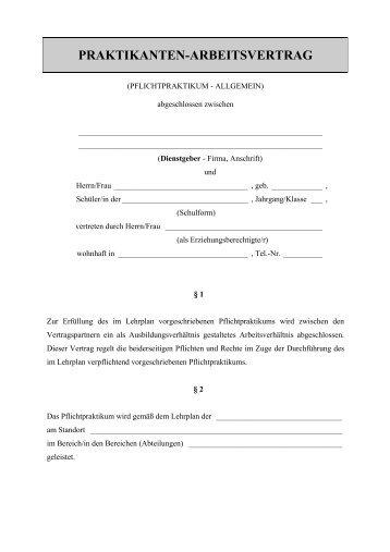 Muster Arbeitsvertrag