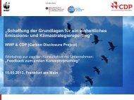 WWF & CDP (Carbon Disclosure Project) - Klimareporting.de