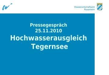 Hochwasserschutz im Mangfalltal - Wasserwirtschaftsamt Rosenheim
