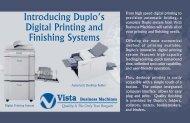 Introducing Duplo's Digital Printing and ... - Vista Business Machines