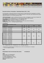 Borussia Dortmund Heimspiele - Bundesliga Saison 2012 / 2013 ...