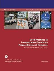 Good Practices in Transportation Evacuation Preparedness - FHWA ...