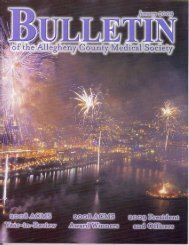 January 2009 Bulletin - Allegheny County Medical Society